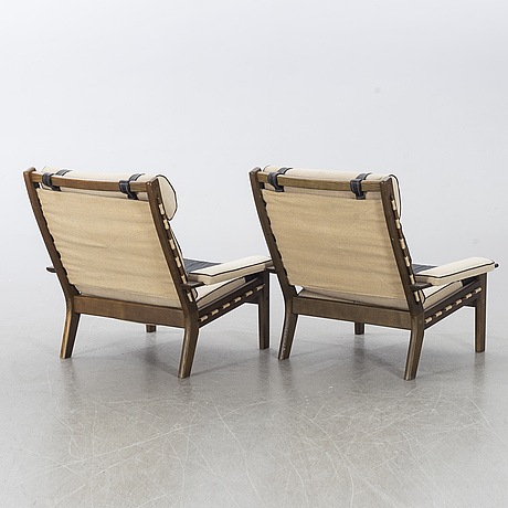 Armchairs, possibly norway, second half of the 20th century.