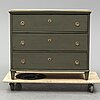 A first half of the 19th century chest of three drawers.