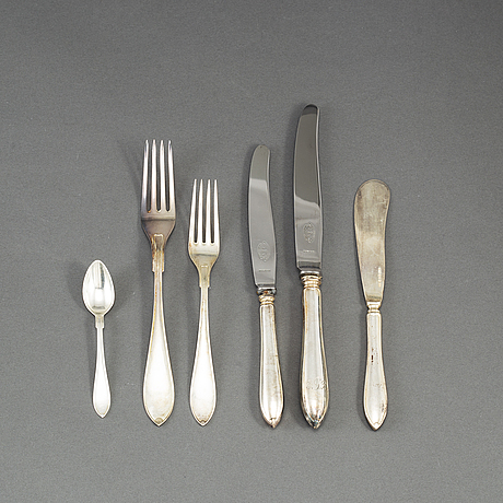 64 psc silver cutlery, mab & gab, some stockholm 1931.