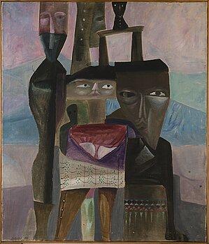 ALPO JAAKOLA, oil on canvas, signerad och daterad -62.