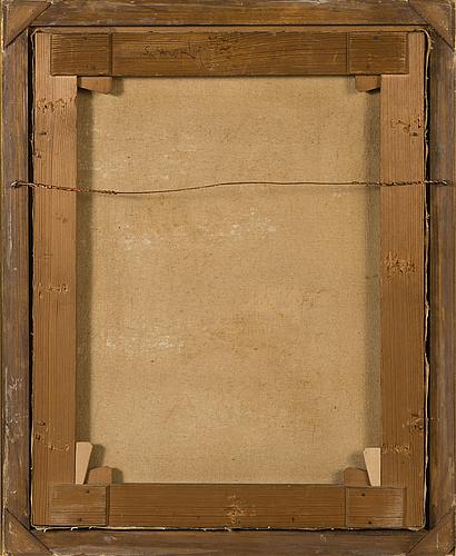 Santeri salokivi, oil on canvas, signed and dated-17.