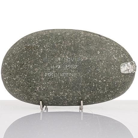 Bertel gardberg, a stone sculpture signed brg -87.