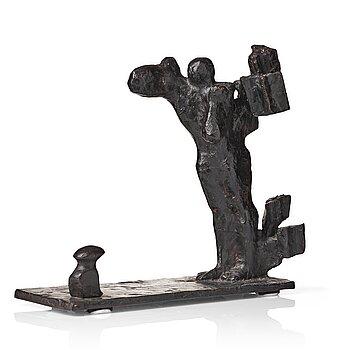 "409. Bror Marklund, ""Gestalt i storm"" (Figure in a storm)."