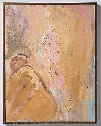 Evert lundquist, oil on canvas, signed and dated 1981 on verso.