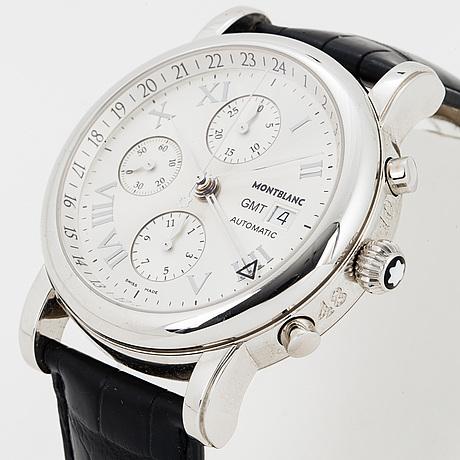 Montblanc, gmt star, chronograph, wristwatch, 42 mm.
