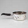 A swedish 20th century silver pot, mark of cg hallberg, stockholm 1917.