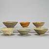 A group of southeast asian ceramic bowls, including thailand 17th/19th century.