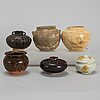 A group of six southeast asian ceramic jars, 17th-19th century.