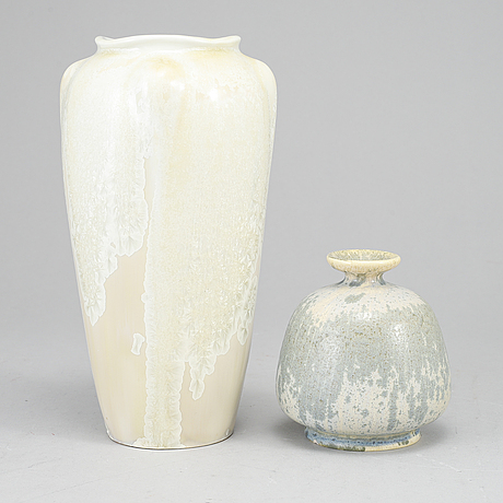 Two ceramic vases from rörstrand, early 20th century.