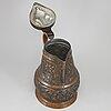 A copper jug, probably germany, ca 1800.