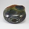 """Gunnar cyrÉn, a """"graal glass vase, orrefors 1989."""