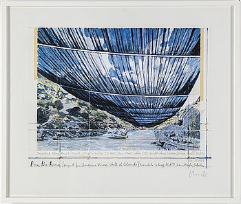 CHRISTO & JEANNE-CLAUDE, off set, 1999, signed.