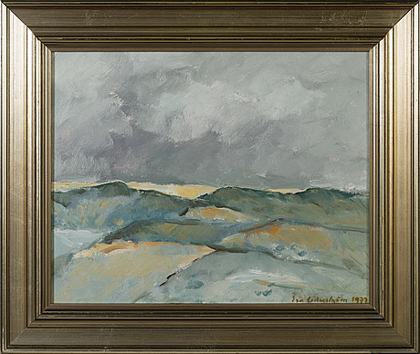 Eva cederstrÖm, oil on board, signed and dated 1977.
