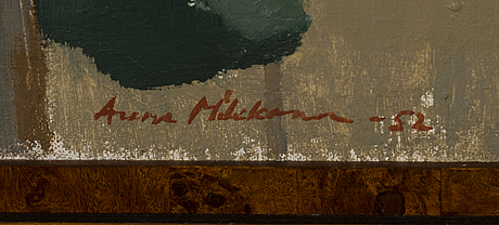 Aune mikkonen, oil on canvas, signed and dated -52.