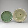Two celadon dishes, mingstyle, 20th cenutry.