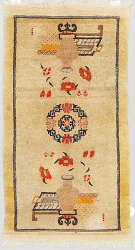 A rug, old china/tibet, ca 130 x 70 cm.