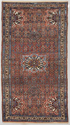 A rug, semi-antique hamadan, ca 200 x 117 cm.