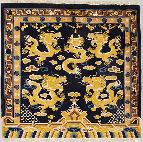 A rug, old china, ca 165 x 173 cm.