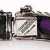 Pentti sarpaneva, a silver bracelet with amethysts. turun hopea, turku 1972.