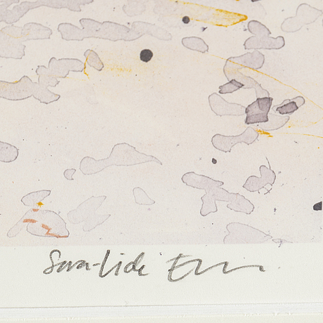 Sara-vide ericson, colour lithograpg, signed and numbered 118/120.