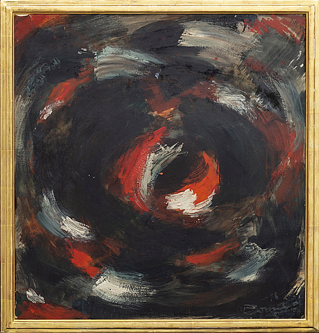 Olle bonniÉr, oil on panel  signed and dated 1958.