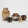A group of five southeast asian ceramic jars, 19th and 20th century,