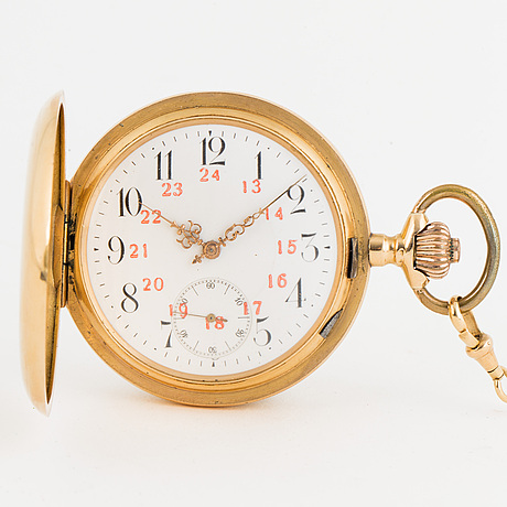 Pocket watch, hunter, 52 mm.