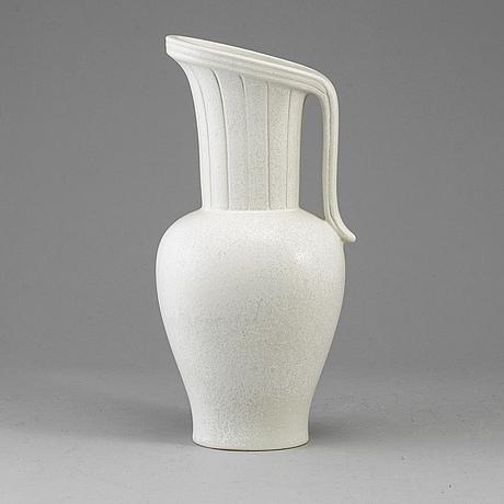 Gunnar nylund, a stoneware vase from rörstrand.