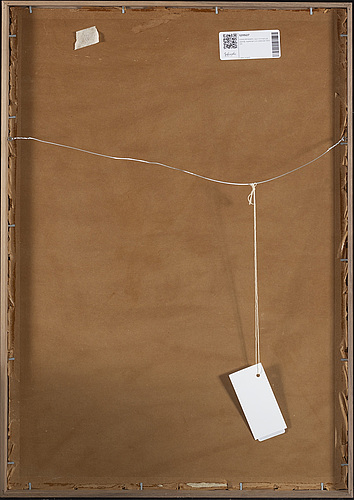 Hans ryggen, canvas glued to panel, signed and dated 1920.