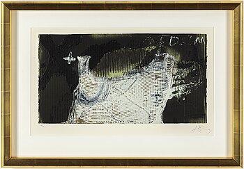 ANTONI TÀPIES, etching and karborundum, 1988, signed 33/99.