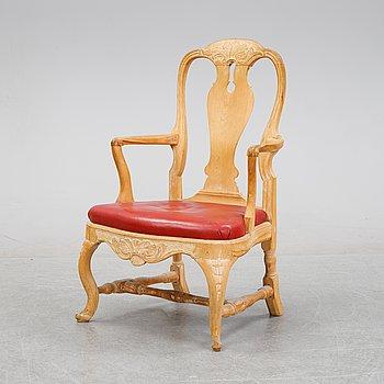 A Swedish Rococo armchair, mif 18th Century.
