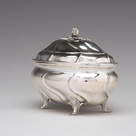 Andreas öhrman, sockerskrin, silver, stockholm 1769. rokoko.