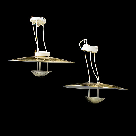 Hans-agne jakobsson, a pair of ceiling lights, markaryd.