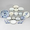 A group of southeast asian 18 blue and white ceramics, 19-20th century.
