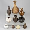 A group of ten southeast asian ceramic and stoneware jars/vases, 19th/20th century.