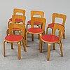 Alvar aalto , childrens furniture, 8 parts , artek mid-1900s.