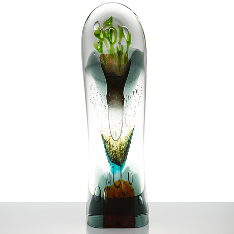 Oiva toikka, a 'latina iii' glass sculpture, signed oiva toikka iittala 2010, numbered 7/30.