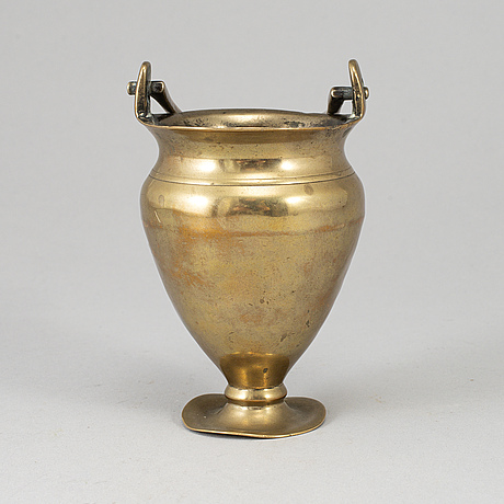 An 18th century bronze holy water bowl.