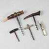 Five cork screws, 19th/20th centiury.