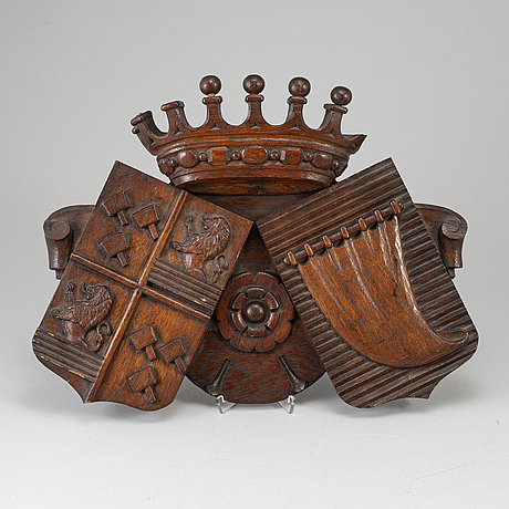 A dark wood carving, 19th century.