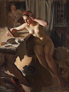 "429. Anders Zorn, ""Gammal spegel"" (Old Mirror)."