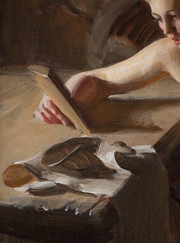 "Anders zorn, ""gammal spegel"" (old mirror)."