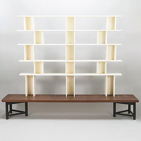 Carl gustaf hiort af ornÄs, a 1950s 'välipala' shelf for hmn huonekalu mikko nupponen.