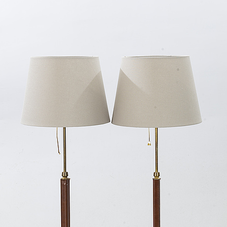 "Two floor lamps,  ""7097"", falkenbergs belysning, late 20th century."