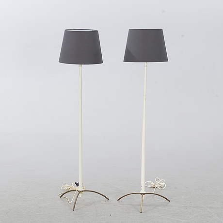 Hans-agne jakobsson, a pair of floor lamps, second half of the 20th century.