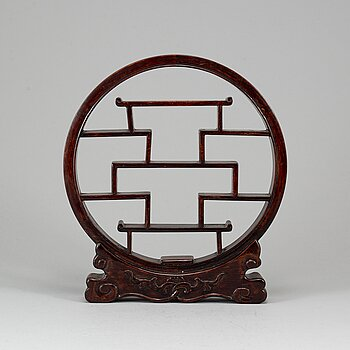 A chinese wooden stand for miniatyres, early 20th Century.