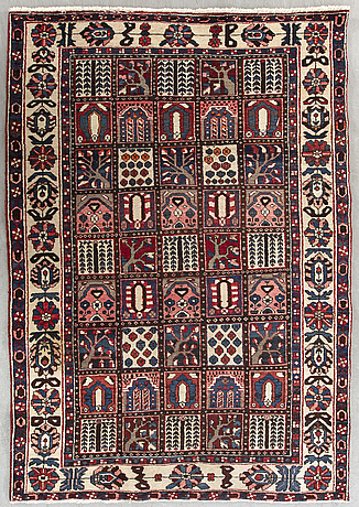 An old bachtiari carpet ca 300 x 162 cm.