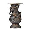 A gold splashed bronze vase, qing dynasty, presumably 18th century or older.