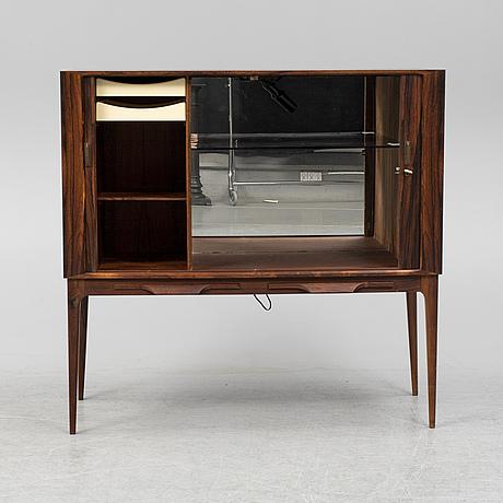 Kurt Østervig, a rosewood veneered drinks cabinet, denmerk, 1960's.