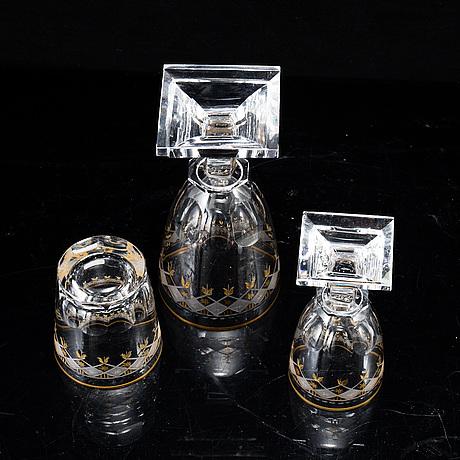 "A swedish part glass service, kosta,  ""odelberg junior"", 20th centruy."